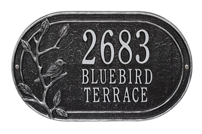 Whitehall Woodridge Bird Oval Address Plaque