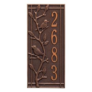 Whitehall Woodridge Vertical Plaque Antique Copper