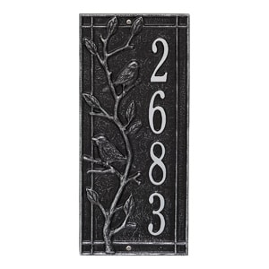 Whitehall Woodridge Vertical Plaque Black Silver