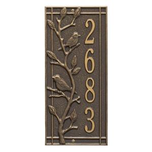 Whitehall Woodridge Vertical Plaque Bronze Gold