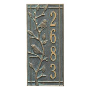 Whitehall Woodridge Vertical Plaque Bronze Verdigris