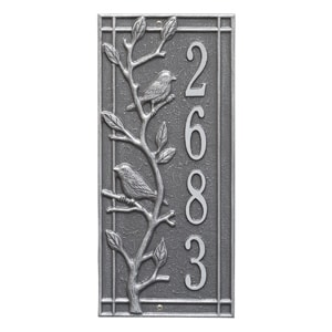 Whitehall Woodridge Vertical Plaque Pewter Silver