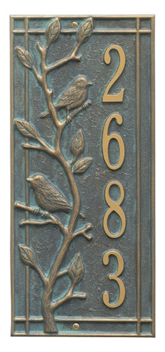 Whitehall Woodridge Bird Vertical Address Plaque