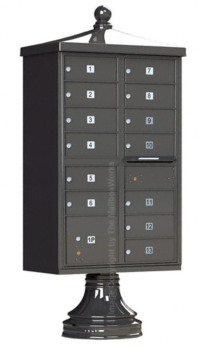 13 Door CBU Mailboxes with Florence Vogue Accessories