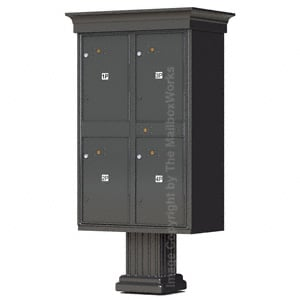 4 Door Parcel Locker Classic Bronze