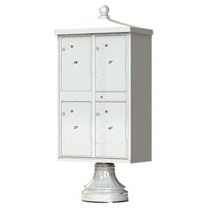 4 Door Parcel Locker Traditional Grey