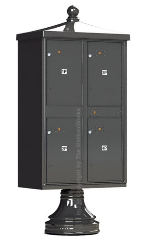 4 Door Parcel Locker Traditional Vogue