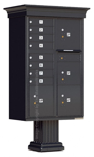 8 Door Classic CBU Mailboxes 4 Parcel Lockers