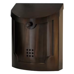 Ecco 4 Wall Mount Mailbox Bronze