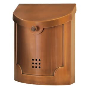 Ecco 4 Wall Mount Mailbox Copper