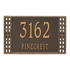 Whitehall Boston Address Plaque Bronze Gold