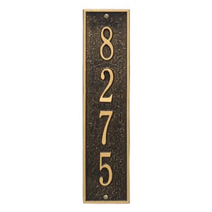 Whitehall Delaware Vertical Plaque Black Gold