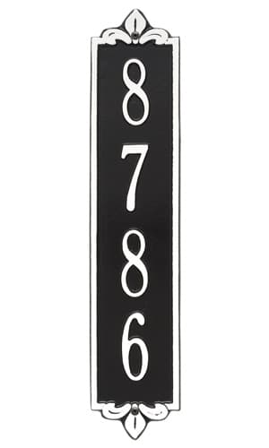 Whitehall Lyon Vertical Standard Address Plaque