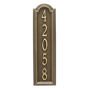 Whitehall Manchester Address Plaque Antique Bronze