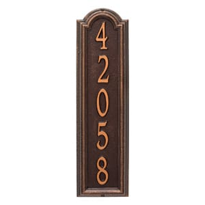 Whitehall Manchester Address Plaque Antique Copper