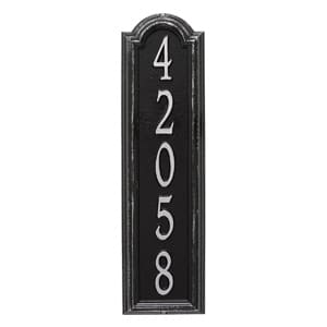 Whitehall Manchester Vertical Plaque Black Silver