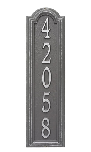 Whitehall Manchester Vertical Address Plaque
