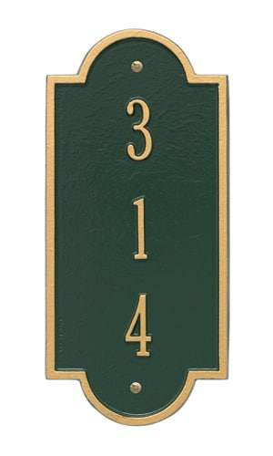 Whitehall Petite Richmond Vertical Address Plaque