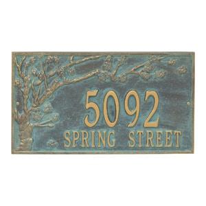 Whitehall Spring Blossom Plaque Bronze Verdigris