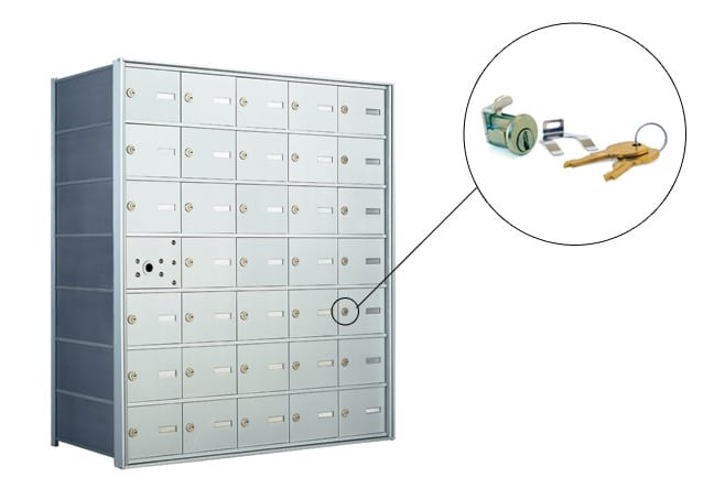 Florence 1400 Series Horizontal Mailbox Replacement Tenant Door Lock Part Example