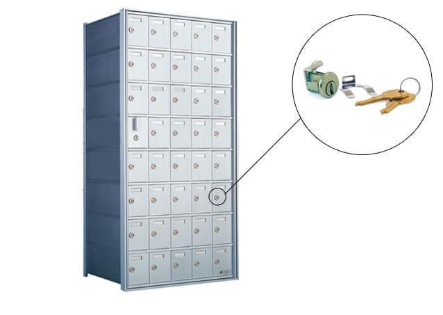 Florence 1600 Series Horizontal Mailbox Replacement Tenant Door Lock Part Example