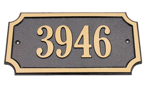 Solid Brass Address Plaques