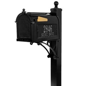 Whitehall Deluxe Mailbox Package Black Silver