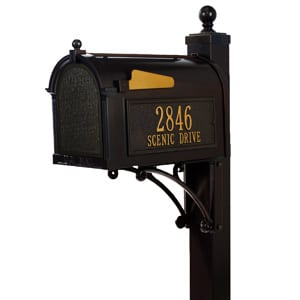 Whitehall Deluxe Mailbox Package Bronze