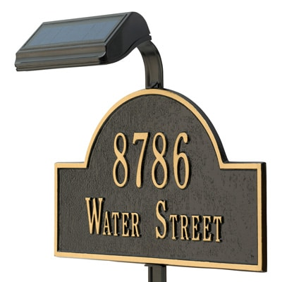 Whitehall Lawn Marker Solar Lamp Installed Angled View
