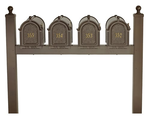 Whitehall Mailboxes with Quad Post