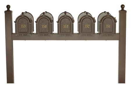 Whitehall Mailboxes Quint Multi Mount Post