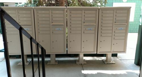Florence 4C13D-15-P 4C13D-12-P 4C Mailboxes Installed