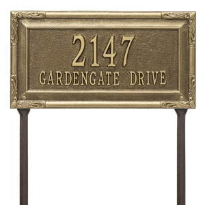 Whitehall Gardengate Lawn Marker Antique Bronze