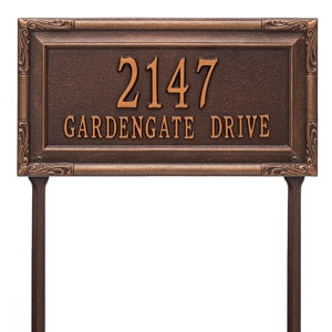 Whitehall Gardengate Lawn Marker Antique Copper