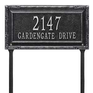 Whitehall Gardengate Lawn Marker Black Silver