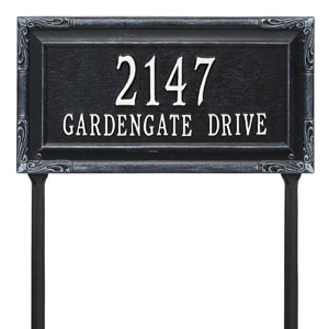 Whitehall Gardengate Lawn Marker Black White