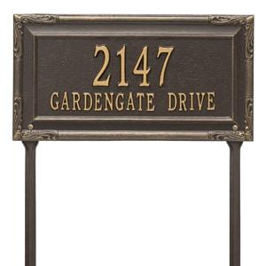 Whitehall Gardengate Lawn Marker Bronze Gold