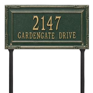 Whitehall Gardengate Lawn Marker Green Gold