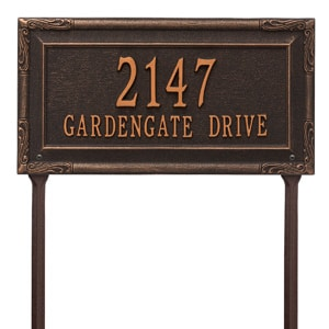Gardengate Lawn Marker Oil Rubbed Bronze