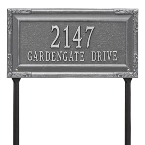 Whitehall Gardengate Lawn Marker Pewter Silver