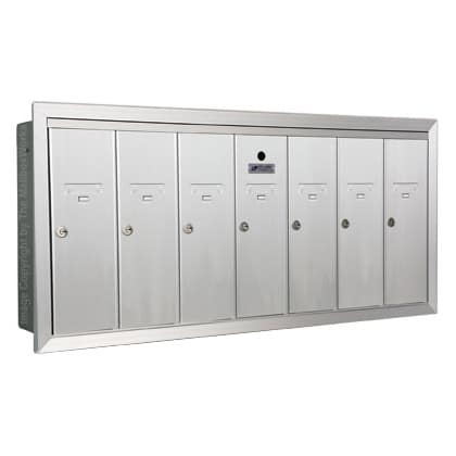 7 Door Vertical Mailboxes