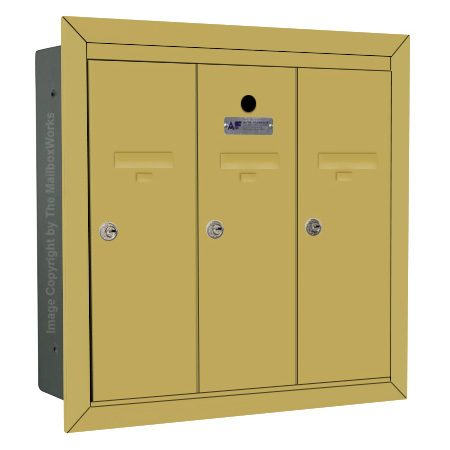 3 Door Powder Coat Vertical Mailbox