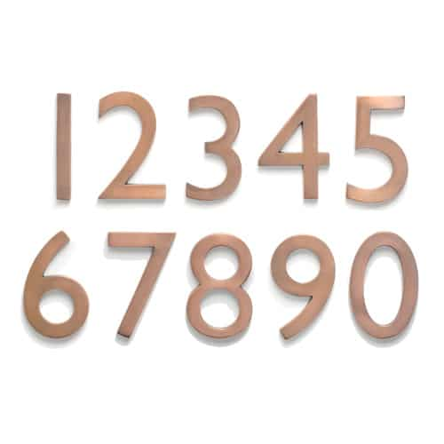 Laguna Antique Copper 5 Inch House Numbers