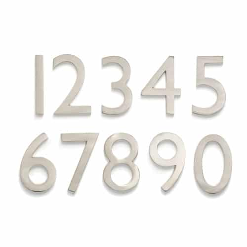 Laguna Satin Nickel 5 Inch House Numbers