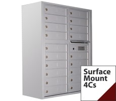 Surface Mounted Versatile Commercial 4C Mailboxes