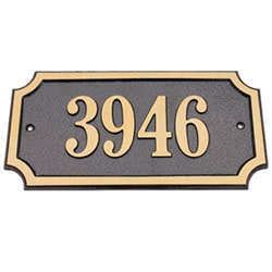 Majestic Solid Brass Address Plaques
