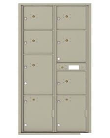 4C Commercial Mailboxes and Surface Mount Collars 1 to 8 Parcel Lockers