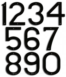 Majestic 10 Inch Modern House Numbers