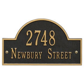 House Address Plaques: Wall, Lawn, Numbers, Letters