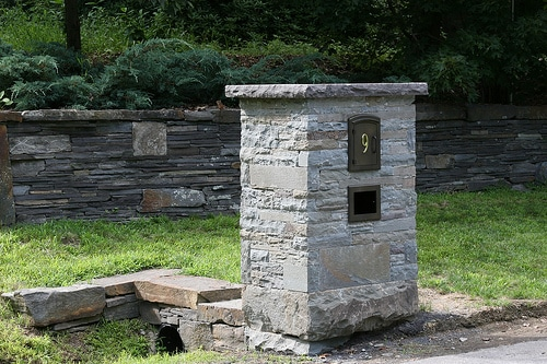Manchester Column Mount Mailbox Installed
